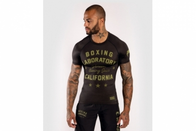 BOXING LAB RASHGUARD - SHORT SLEEVES - BLACK/GREEN VENUM