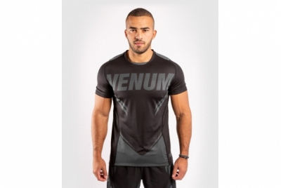 Venum ONE FC Impact Dry Tech T-Shirt - Black/Black